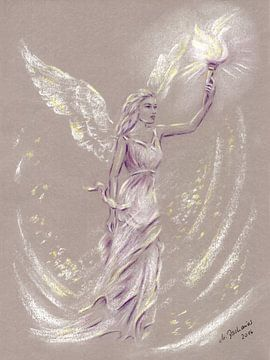 Engel der Hoffnung - Engel Malerei von Marita Zacharias