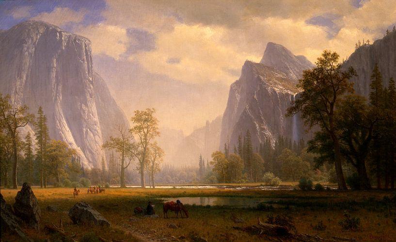 Looking Up the Yosemite Valley van Meesterlijcke Meesters