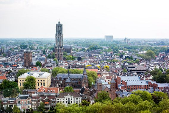 Utrecht vanuit de hoogte van Erik Mus