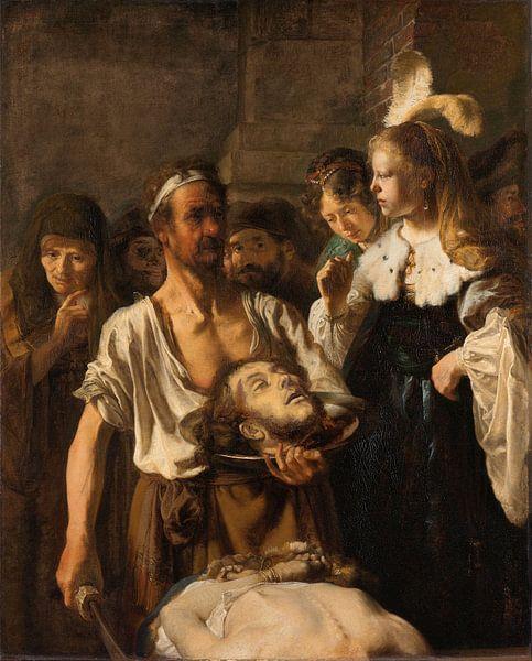 Salome ontvangt het hoofd van Johannes de Doper, Rembrandt Harmensz. van Rijn van Rembrandt van Rijn