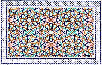 Marokkaans mozaïek, wandpaneel I van Rietje Bulthuis