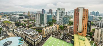 Panorama  van centrum van Rotterdam van Fred Leeflang