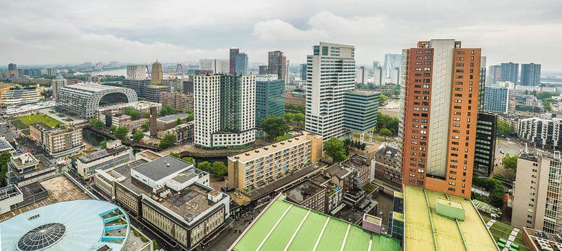 Panorama des Zentrums von Rotterdam von Fred Leeflang
