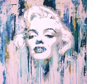 Marilyn Monroe Abstrakt Blue Pop Art