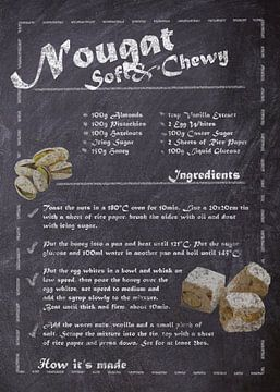 Rezept Dessert - Nougat von JayJay Artworks