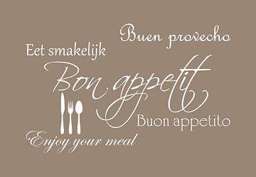 Bon appetit - Licht bruin van Sandra H6 Fotografie