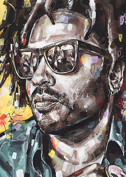 Lenny Kravitz Gemälde von Jos Hoppenbrouwers