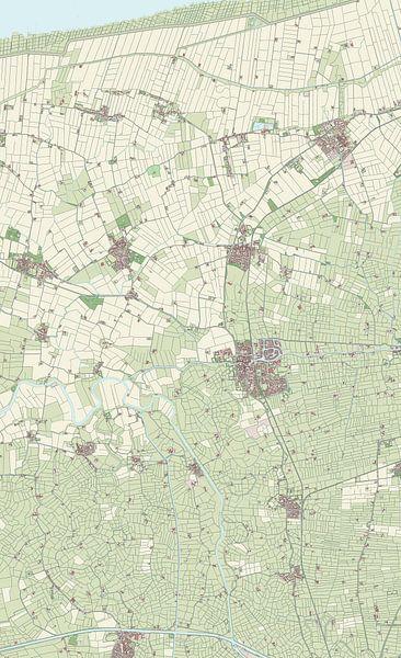 Kaart van Winsum van Rebel Ontwerp