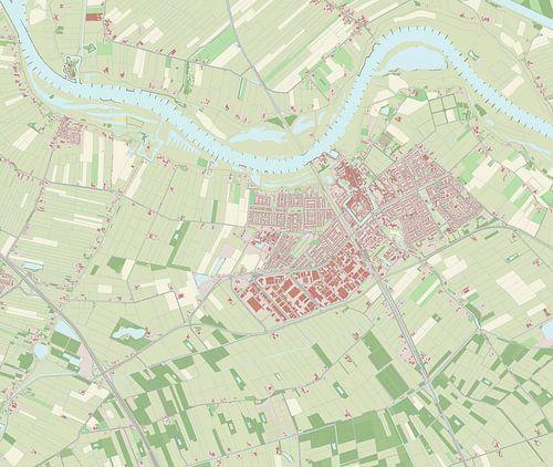 Kaart vanCulemborg van Rebel Ontwerp