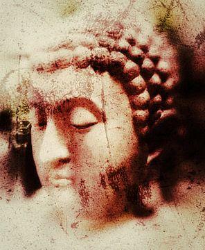Boeddha aquarel 16032021 van Michael Ladenthin