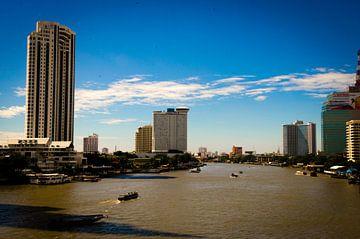 Bangkok Skyline van Olivier Van Acker