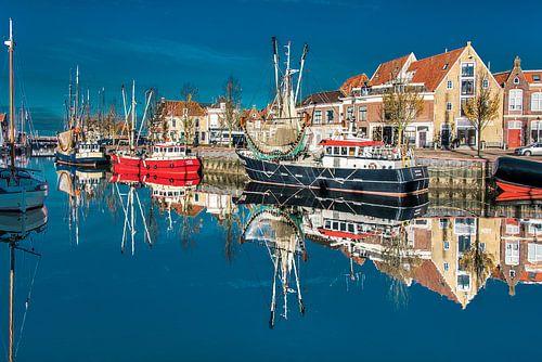 De Zuiderhaven van Harlingen in t herfstzonnetje van Harrie Muis
