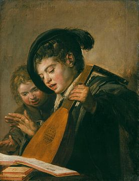 Zwei musizierende Knaben, Frans Hals