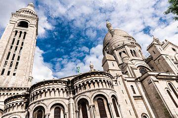 Gevel Sacre Coeur Oriëntatiepunt Parijs Frankrijk van Dieter Walther