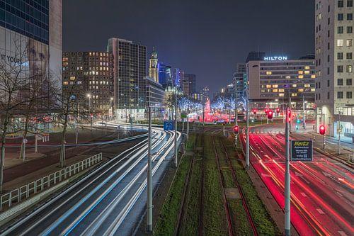 Het Hofplein in Rotterdam in beweging van MS Fotografie