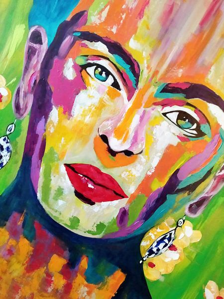 """Frida Kahlo """"Gesicht"""" von Kathleen Artist Fine Art"""