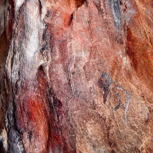 Rotswand in rood - studie 3 van Hans Kwaspen