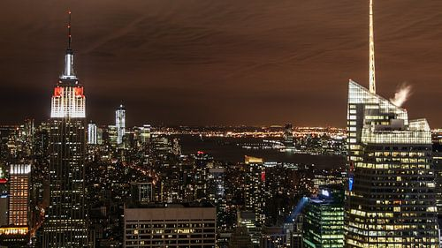 New York van bovenaf van