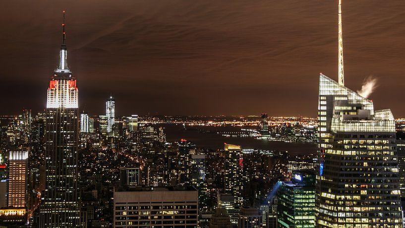 New York van bovenaf van Chris van Kan