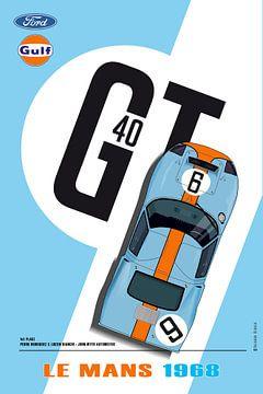 GT40 Gulf Le Mans 1968 van Theodor Decker