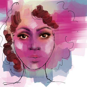 Brown Skin Girl van Afrotastic Art