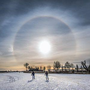 Winterbeeld van Friesland ter hoogte van TerGracht