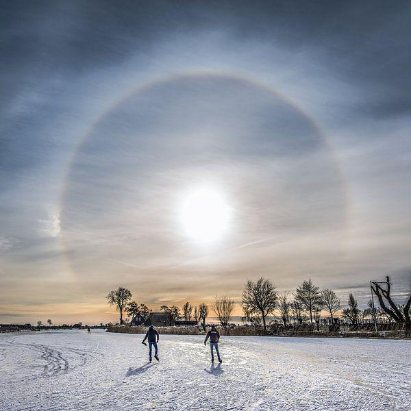 Winterbeeld van Friesland ter hoogte van TerGracht van Harrie Muis