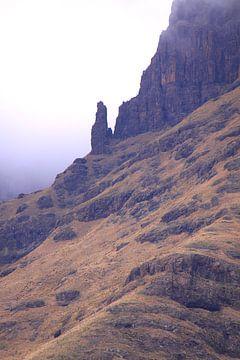 Drakensbergen in de ochtend mist van Bobsphotography
