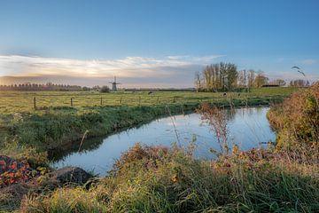 Weids landschap met molen von Moetwil en van Dijk - Fotografie