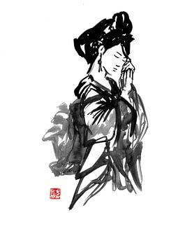 geisha contemplation sur philippe imbert
