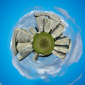 Stonehenge, steencirkel, Groot-Brittannië, planeet compositie van Rietje Bulthuis