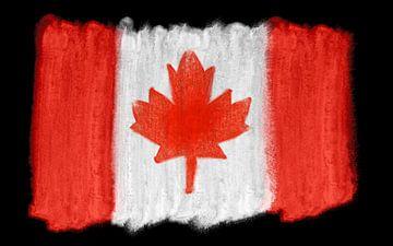 Symbolische nationale vlag van Canada van Achim Prill