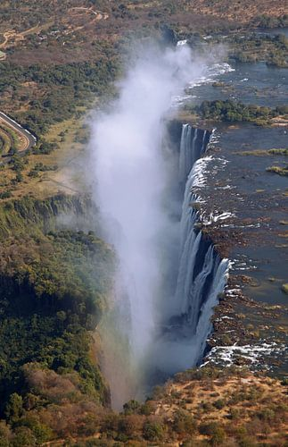Victoria Falls from the air - Zambia