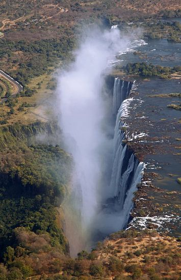 Victoria Falls from the air - Zambia van W. Woyke