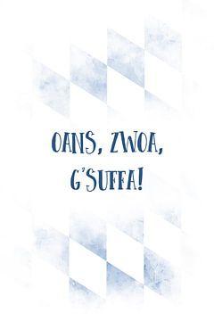 Beiers dialect OANS, ZWOA, G'SUFFA van Melanie Viola