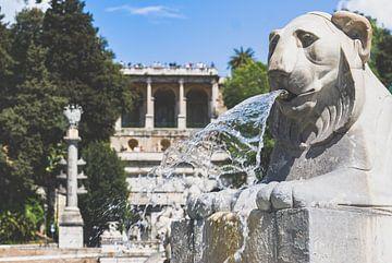 Piazza del Popolo fontein in Rome van Fotografiecor .nl