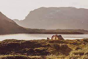 Camping im Stavatn in Norwegen, an der Telemark und mit Blick auf Hordaland