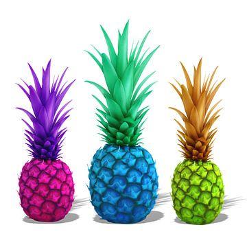 kleurrijke ananas van Marion Tenbergen