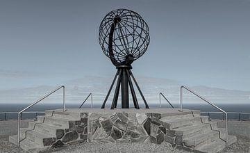 Monument op de Noordkaap, Noorwegen van Adelheid Smitt