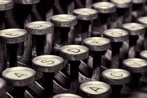 Schreibmaschinen Tasten van Markus Wegner