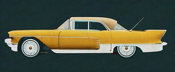Cadillac Eldorado Brougham gebouwd in 1957 in profiel