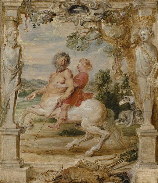 Der Zentaur Chiron unterrichtet den jungen Achilles, Peter Paul Rubens von Meesterlijcke Meesters