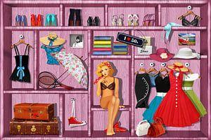 Pin Up Girl en haar kleren