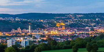 Esslingen am Neckar mit der Burg am Abend von Werner Dieterich