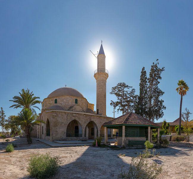 De moskee van Umm Haram, Larnaca, South-Cyprus, Cyprus van Rene van der Meer