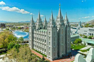 De Salt Lake Tempel in Salt Lake City, Utah, USA van Lars-Olof Nilsson