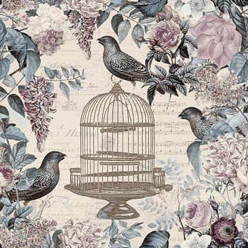 Blütenromanze und Vögel von Andrea Haase