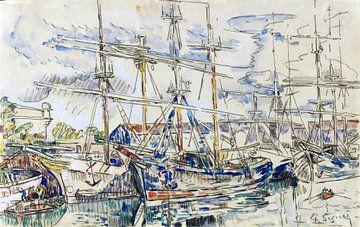 Saint-Malo, die Neufundländer, Paul Signac, 1928. von Atelier Liesjes