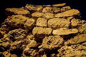 Eeuwen oude kalkstenen ruine Balashi Aruba van Ruurd van der Meulen