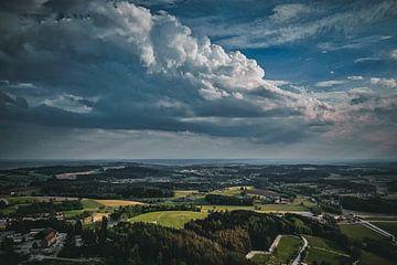 Landschaft mit Wolken von Thilo Wagner